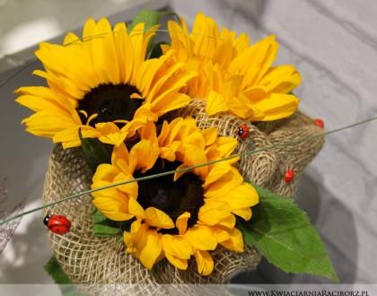 bukiet słoneczniki racibórz