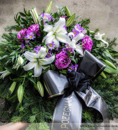 piekny wieniec pogrzebowy racibórz