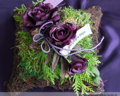 kompozycja na grób racibórz kwiaciarnia