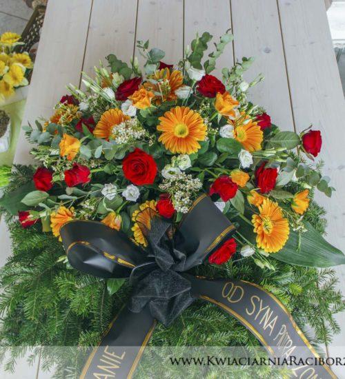 wiazanka na pogrzeb pomarancz