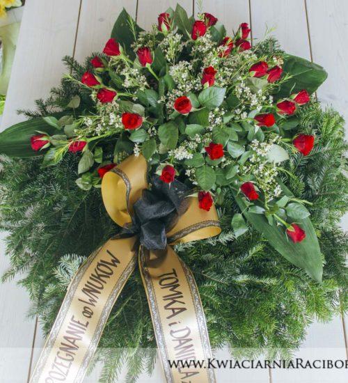 wiazanka pogrzebowa roze