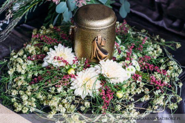 dekoracja urny kwiaciarnia raciborz