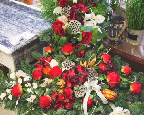 stroik na cmentarz, grób