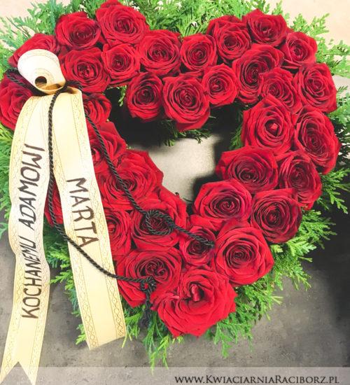 kompozycja-serce-kwiacianira-raciborz-szarfa